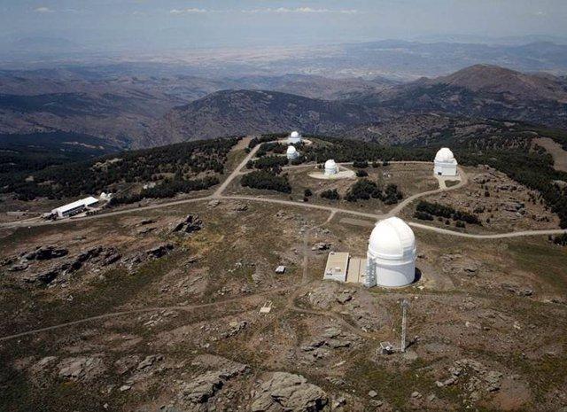 El centro astronómico de Calar Alto, en Gérgal (Almería)