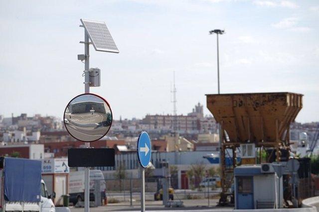 Una de las nuevas señales inteligentes incorporadas en el Port de Tarragona