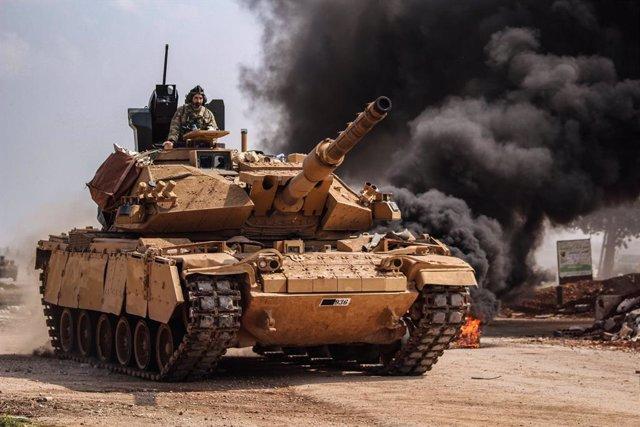 Siria.- Varios soldados rusos y turcos heridos por la explosión de una bomba dur