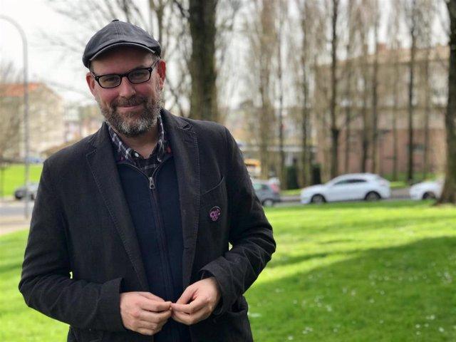 Martiño Noriega, dirigente de Anova, y candidato número 3 por A Coruña en la lista de Galicia en Común-Anova Mareas