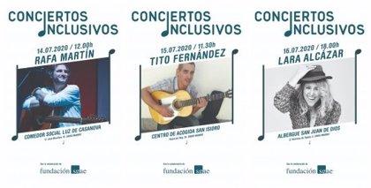 La Fundación SGAE lleva los 'Conciertos Inclusivos' a albergues y centros de acogida este mes de julio