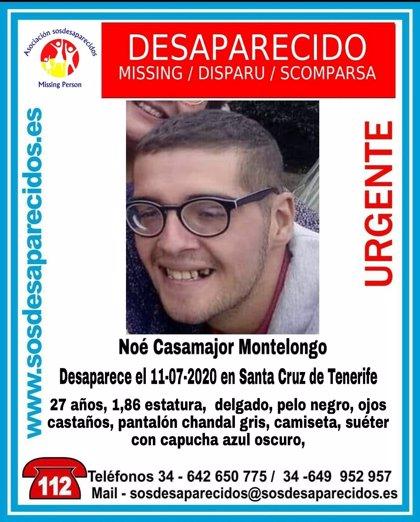 Buscan a un joven de 27 años desaparecido hace tres días en Santa Cruz de Tenerife