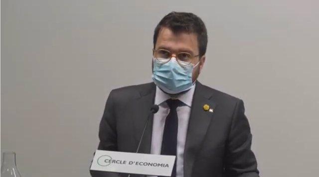 El vicepresidente y conseller de Economía de la Generalitat, Pere Aragonès