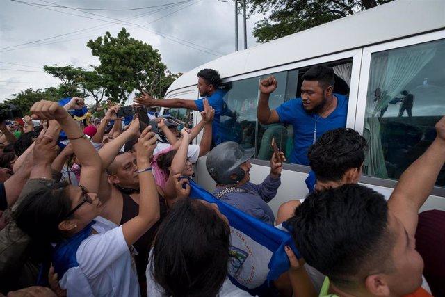 Presos políticos liberados en Nicaragua (Imagen de archivo)