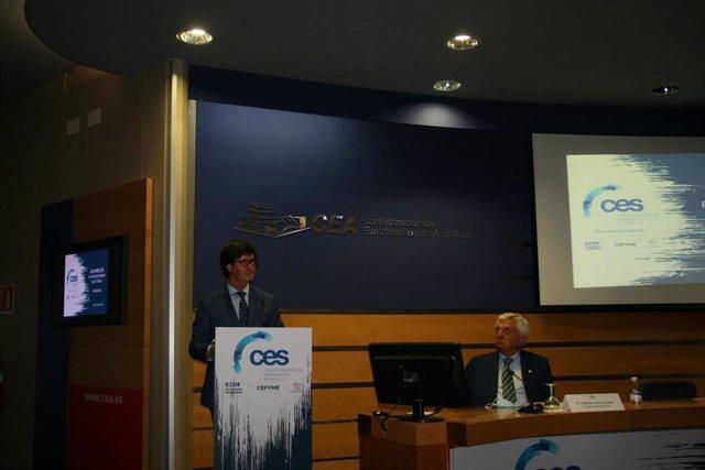 Miguel Rus, tras su reciente reelección como presidente de la CES