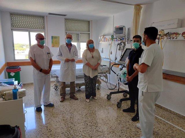 Visita a la nueva zona de pacientes Covid-19 del hospital de Riotinto.