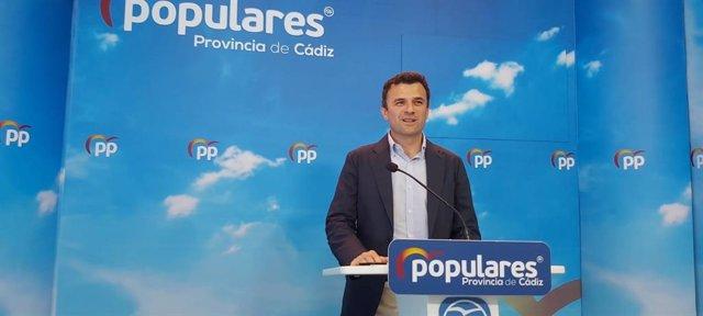 Bruno García, secretario general del Pp de Cádiz