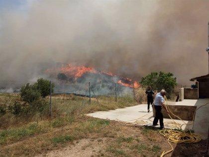 Declarado un incendio en las proximidades de Los Arcos