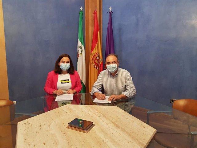 Firma del convenio entre el Ayuntamiento de Jaén y Aqualia