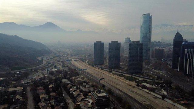 Vista de Santiago de Chile durante la pandemia de coronavirus