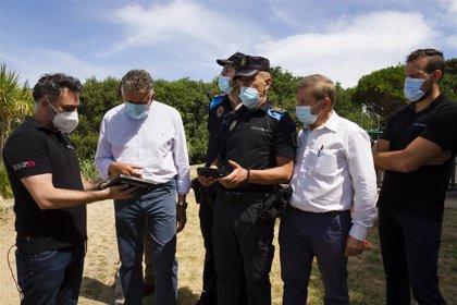 El Ayuntamiento de Sanxenxo controla con drones la ocupación de las playas, que se podrá consultar por Internet