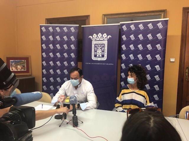El alcalde de Tarazona, Luis José Arrechea, informa de los nuevos positivos de coronavirus