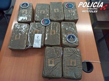 Intervenidos 10,5 kilos de hachís durante una operación de control y vigilancia en Móstoles