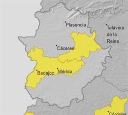 Alertas para el 15 de julio en Extremadura