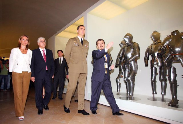 El Príncipe de Asturias en el Museo del Ejército de Toledo.