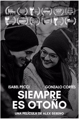 Cartel de la película 'Siempre es otoño', de Alex Sereno.