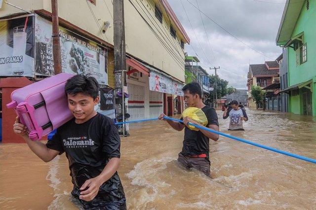 Imatge d'arxiu d'inundacions a la província de Cèlebes Meridional, a Indonèsia.