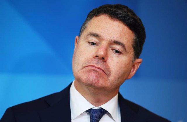 Paschal Donohoe, ministro de Finanzas de Irlanda y presidente del Eurogrupo