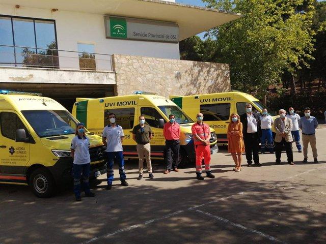 Presentación de las nuevas ambulancias.