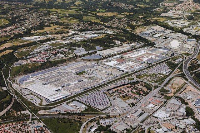 Imagen desde lo alto de la planta de Seat en Martorell (Barcelona).