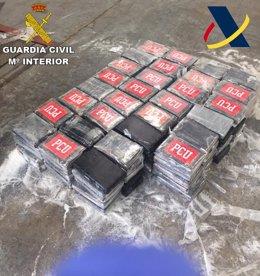 Cocaína incautada por la Agencia Tributaria y la Guardia Civil
