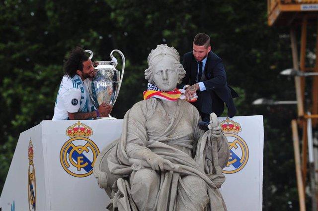 CELEBRACIÓN DE LA DECIMOTERCERA CHAMPIONS DEL REAL MADRID EN CIBELES