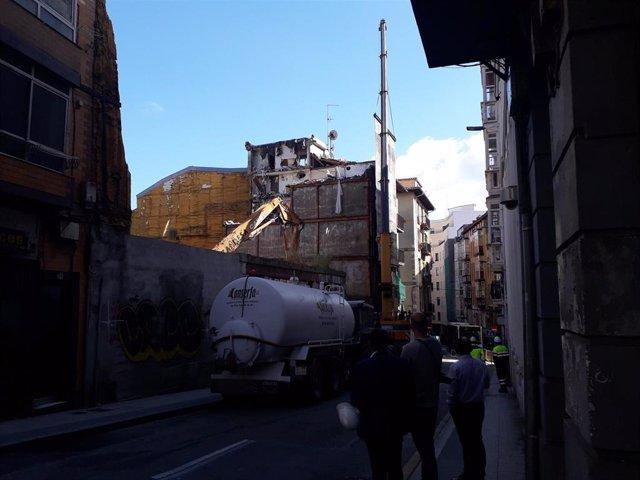 Derribo de edificios abandonados en el Cabildo  (archivo)