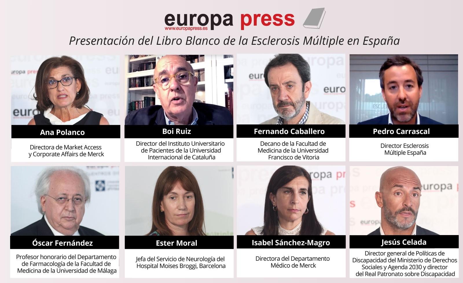 Participantes del Encuentro Digital de Europa Press con la presentación del Libro Blanco de la Esclerosis Múltiple en España Estudio aprEMde aproximación Psicosocial a las personas con EM, en Madrid (España), a 15 de julio de 2020.