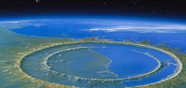 Cráter de Chicxulub, en Yucatán (México)