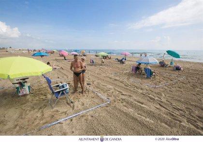 Más de 2.500 personas han adquirido el 'kit playa segura' de Gandia