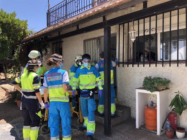 Intoxicados dos pintores mientras trabajaban en un sótano de Pozuelo