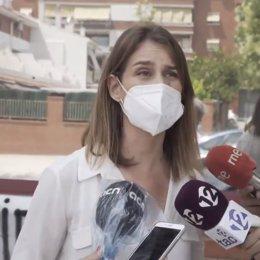 La líder dels comuns al Parlament, Jéssica Albiach, durant la seva visita al CAP de la Granja a Tarragona aquest 15 de juliol