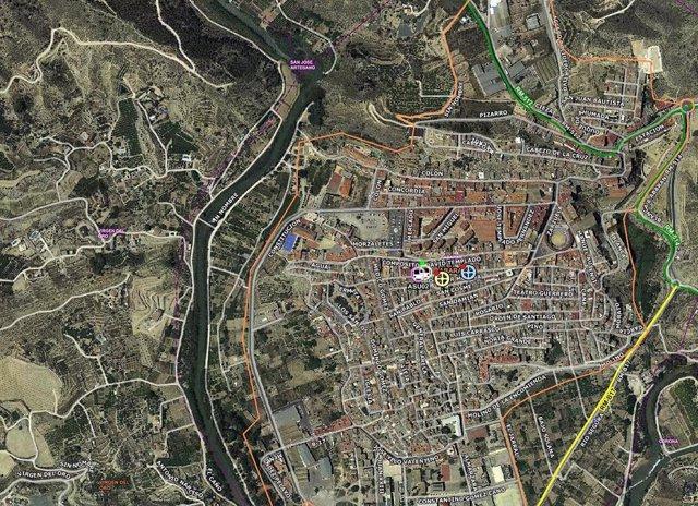 Imagen en el mapa del lugar del accidente