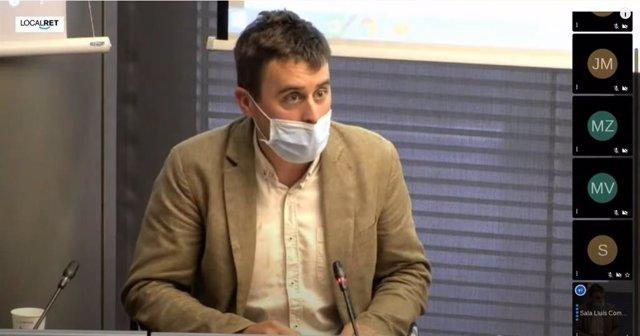El regidor de Drets de Ciutadania de Barcelona, Marc Serra, en la comissió de Presidència.