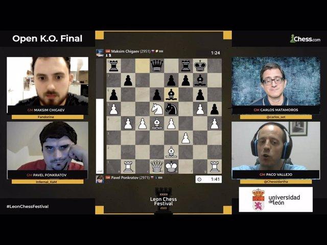 Captura del torneo de ajedrez de León