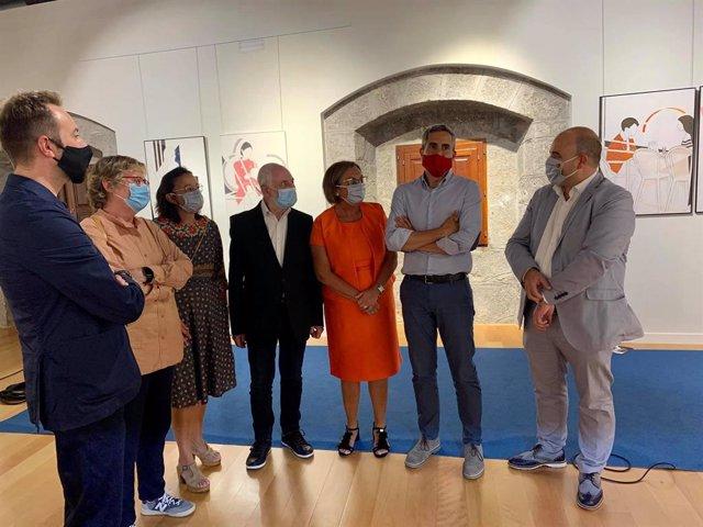 Inauguración muestra Pedro Sobrado en Laredo