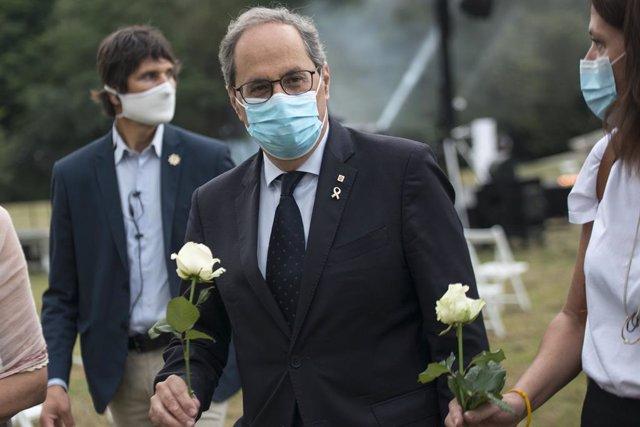 El president de la Generalitat, Quim Torra. Girona, Catalunya (Espanya), 14 de juliol del 2020.