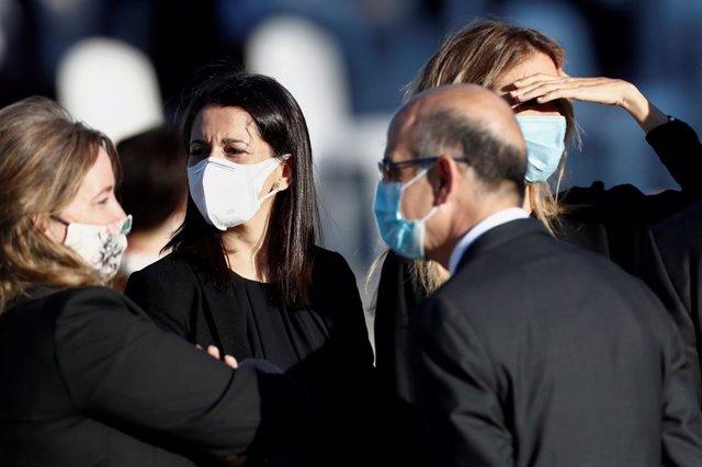 La presidenta de Cs, Inés Arrimadas (2e), en la cerimònia d'estat per homenatjar les víctimes de la pandèmia. Madrid (Espanya), 16 de juliol del 2020.