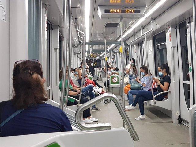 Sevilla.-Coronavirus.-Metro de Sevilla recupera la mitad de su demanda de viajeros previa al Covid-19