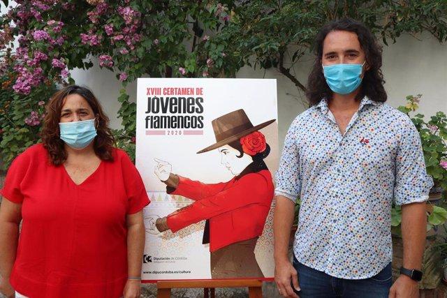 La delegada de Cultura en la Diputación de Córdoba, Salud Navajas, en la presentación del XVIII Certamen de Jóvenes Flamencos