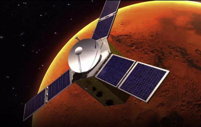Recreación de la misión Hope en órbita de Marte
