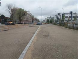 La calle Eduardo Barreiros, en Villaverde, tendrá en un año más espacio peatonal, calzadas más anchas y carril bici