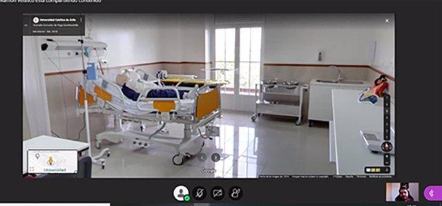 Instalaciones de la UCAV mostradas en las jornadas virtuales de puertas abiertas.