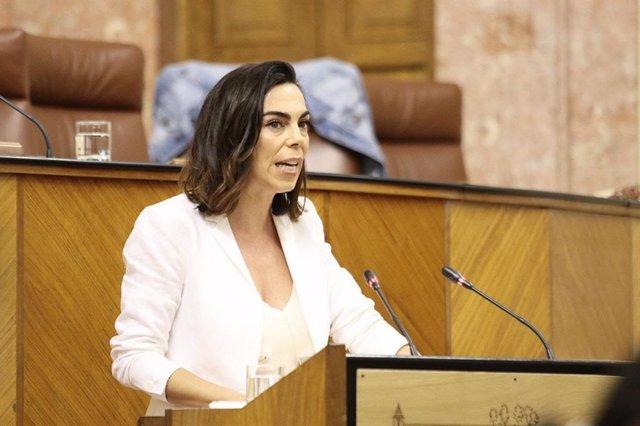 La parlamentaria andaluza de Ciudadanos (Cs) Teresa Pardo, en una foto de archivo.
