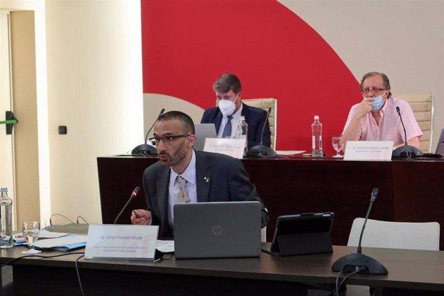 Síndics de Comptes y director de la ILC en comisión