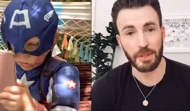 El tierno mensaje de Chris Evans a un niño que salvó a su hermana del ataque de un perro