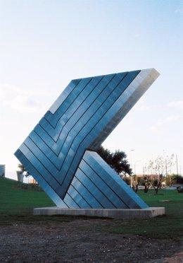 Escultura de Enric Mestre destruida