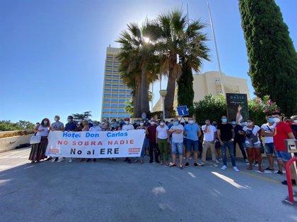 """CCOO y UGT anuncian un """"acercamiento de posturas"""" con la propiedad para evitar el ERE del hotel Don Carlos de Marbella"""