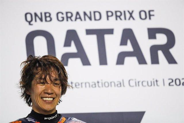 Nagashima Tetsuta (jpn), Red Bull KTM Ajo, Kalex Moto2, portrait, ambiance, winner during Moto2 Grand Prix of Qatar 2020 at the Losail International Circuit from March 6 to 8, 2020 at, 2019 in Qatar - Photo Studio Milagro / DPPI