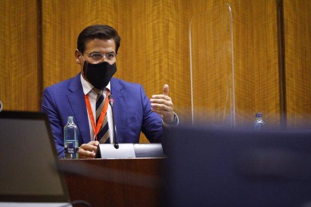 Intervención del alcalde de Granada, Luis Salvador, en el Parlamento andaluz